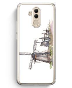 Huawei Mate 20 Lite Hardcase Hülle - Windmühlen Kinderdijk