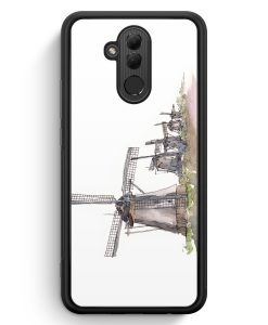 Huawei Mate 20 Lite Silikon Hülle - Windmühlen Kinderdijk