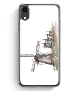 iPhone XR Hardcase Hülle - Windmühlen Kinderdijk