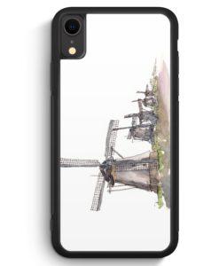 iPhone XR Silikon Hülle - Windmühlen Kinderdijk