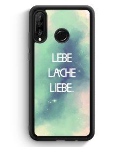 Huawei P30 Lite Silikon Hülle - Lebe Lache Liebe