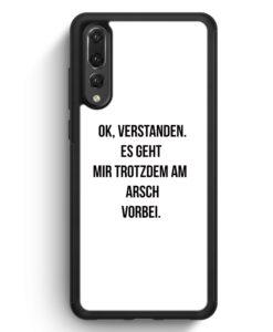 Huawei P20 Pro Hülle Silikon - Ok Verstanden - Es Geht Mir Trotzdem Am Arsch Vorbei WT