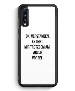 Samsung Galaxy A70 Silikon Hülle - Ok Verstanden - Es Geht Mir Trotzdem Am Arsch Vorbei WT