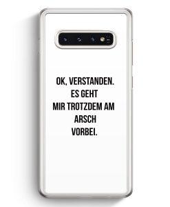 Samsung Galaxy S10+ Plus Hardcase Hülle - Ok Verstanden - Es Geht Mir Trotzdem Am Arsch Vorbei WT