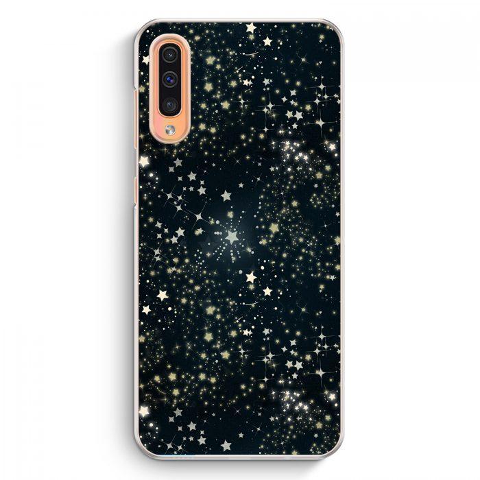 Samsung Galaxy A50 Hardcase Hülle - Sternenhimmel Schwarz