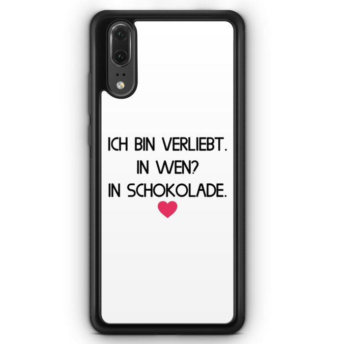 Huawei P20 Hülle Silikon - Ich Bin Verliebt - In Wen? In Schokolade WT