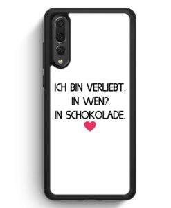 Huawei P20 Pro Hülle Silikon - Ich Bin Verliebt - In Wen? In Schokolade WT