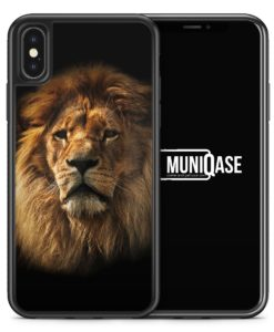 iPhone X Hülle SILIKON - Löwe Lion Foto