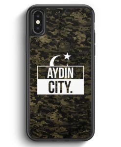 iPhone X & iPhone XS Silikon Hülle - Aydin City Camouflage