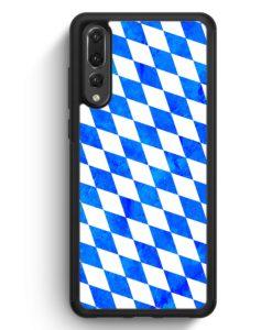 Huawei P20 Pro Hülle Silikon - Bayern Flagge Grunge