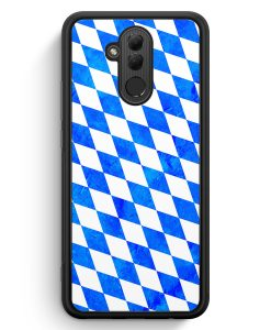 Huawei Mate 20 Lite Silikon Hülle - Bayern Flagge Grunge