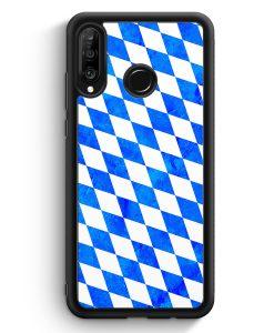Huawei P30 Lite Silikon Hülle - Bayern Flagge Grunge