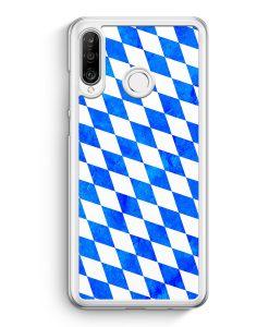 Huawei P30 Lite Hardcase Hülle - Bayern Flagge Grunge