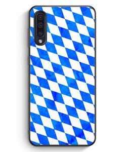 Samsung Galaxy A50 Silikon Hülle - Bayern Flagge Grunge