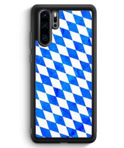 Huawei P30 Pro Silikon Hülle - Bayern Flagge Grunge