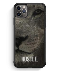 iPhone 11 Pro Max Silikon Hülle - Hustle. Löwe Motivation