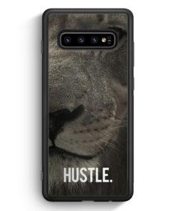 Samsung Galaxy S10 Silikon Hülle - Hustle. Löwe Motivation