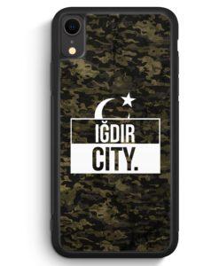 iPhone XR Silikon Hülle - Igdir City Camouflage