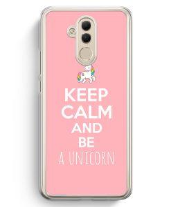Huawei Mate 20 Lite Hardcase Hülle - Keep Calm And Be A Unicorn Rosa