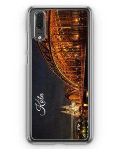 Huawei P20 Hülle Hardcase - Köln Schriftzug Skyline Foto