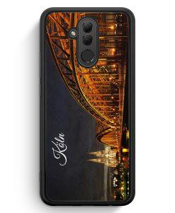Huawei Mate 20 Lite Silikon Hülle - Köln Schriftzug Skyline Foto