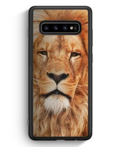 Samsung Galaxy S10 Silikon Hülle - Löwe Kopf Foto