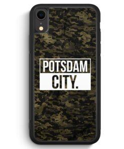 iPhone XR Silikon Hülle - Potsdam City Camouflage