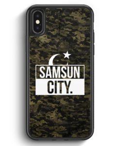 iPhone X & iPhone XS Silikon Hülle - Samsun City Camouflage