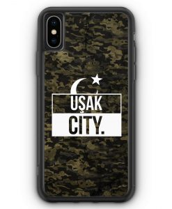 iPhone XS Max Silikon Hülle - Usak City Camouflage