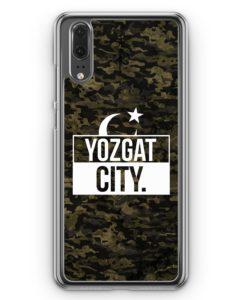 Huawei P20 Hülle Hardcase - Yozgat City Camouflage