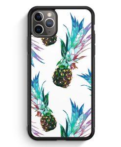 iPhone 11 Pro Silikon Hülle - Ananas Tropical Blau Grün