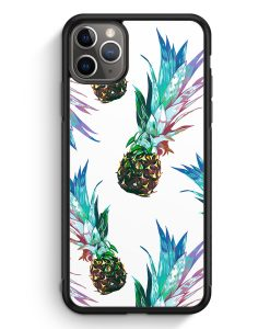 iPhone 11 Pro Max Silikon Hülle - Ananas Tropical Blau Grün