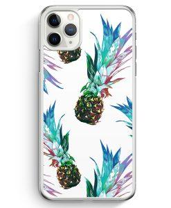 iPhone 11 Pro Max Hardcase Hülle - Ananas Tropical Blau Grün
