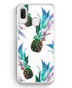 Samsung Galaxy A20e Hardcase Hülle - Ananas Tropical Blau Grün
