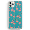 iPhone 11 Pro Max Hardcase Hülle - Flamingo Tropical Muster Blau
