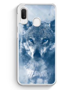 Samsung Galaxy A20e Hardcase Hülle - Wolf Foto