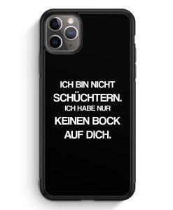 iPhone 11 Pro Max Silikon Hülle - Ich bin nicht schüchtern BK