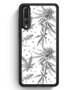 Huawei P20 Pro Hülle Silikon - Weed Vintage Muster