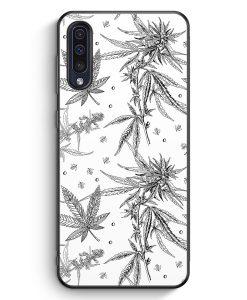 Samsung Galaxy A50 Silikon Hülle - Weed Vintage Muster