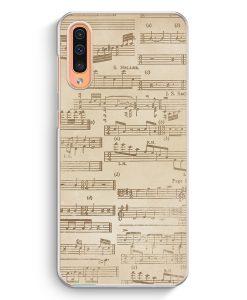 Samsung Galaxy A50 Hardcase Hülle - Musiknoten Vintage