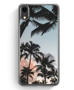 iPhone XR Hardcase Hülle - Palmen Landschaft Tropical