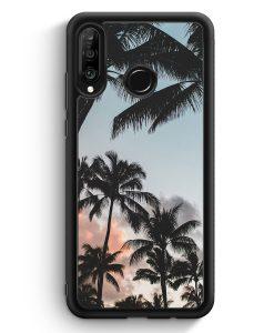 Huawei P30 Lite Silikon Hülle - Palmen Landschaft Tropical