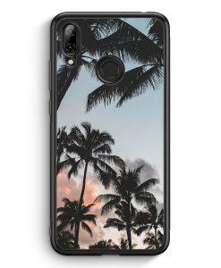 Huawei Y7 (2019) Silikon Hülle - Palmen Landschaft Tropical