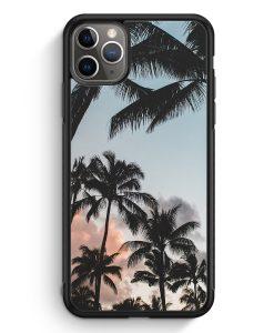 iPhone 11 Pro Max Silikon Hülle - Palmen Landschaft Tropical