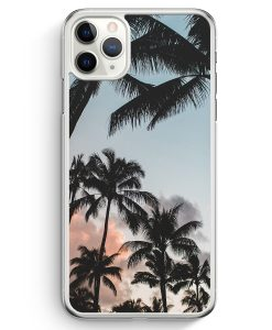 iPhone 11 Pro Hardcase Hülle - Palmen Landschaft Tropical
