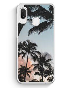 Samsung Galaxy A20e Hardcase Hülle - Palmen Landschaft Tropical