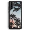 Huawei P30 Pro Silikon Hülle - Palmen Landschaft Tropical