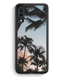 Samsung Galaxy A70 Silikon Hülle - Palmen Landschaft Tropical