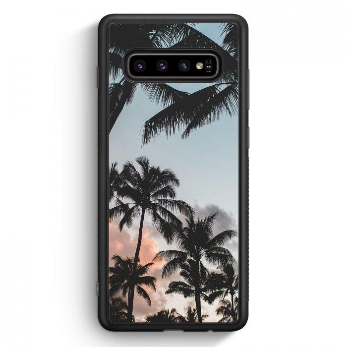 Samsung Galaxy S10 Silikon Hülle - Palmen Landschaft Tropical