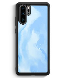 Huawei P30 Pro Silikon Hülle - Pastell Galaxy Hellblau